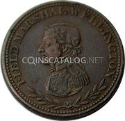 Canada One Penny Token (Field Marshal Wellington) FIELD MARSHAL WELLINGTON coin obverse