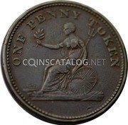 Canada One Penny Token (Field Marshal Wellington) ONE PENNY TOKEN coin reverse
