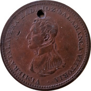 Canada One Penny Token Wellington Peninsular token to Vittoria 1813  VIMIERA TALAVERA BADAJOZ SALAMANCA VITTORIA coin obverse