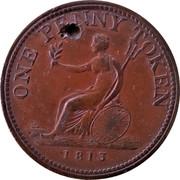 Canada One Penny Token Wellington Peninsular token to Vittoria 1813  ONE PENNY TOKEN 1813 coin reverse
