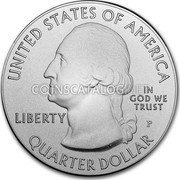 USA Quarter Dollar ( Block Island)  coin obverse