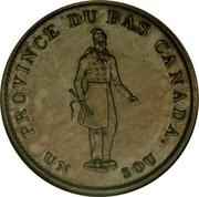 Canada Sou Bouquet Sous 1837 KM# Tn6 BANK TOKEN HALF PENNY CONCORDIA SALUS CITY BANK 1837 coin obverse