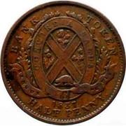 Canada Sou Bouquet Sous 1837 KM# Tn8 BANK TOKEN CONCORDIA SALUS BANQUE DU PEUPLE 1837 HALF PENNY. coin reverse
