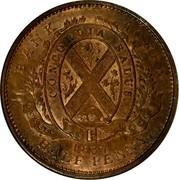 Canada Sou Bouquet Sous 1837 KM# Tn7 PROVINCE DU BAS CANADA. UN SOU coin reverse