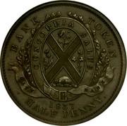 Canada Sou Bouquet Sous 1837 KM# Tn6 PROVINCE DU BAS CANADA. UN SOU coin reverse