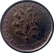 Canada Sou Lowe Canada Token (1835-1838) KM# Tn5 AGRICULTURE & COMMERCE BAS - CANADA coin obverse