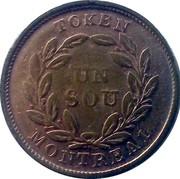 Canada Sou Lowe Canada Token (1835-1838) KM# Tn5 TOKEN UN SOU MONTREAL coin reverse