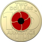 Australia Two Dollars (First centenary of Armistice) TWO DOLLARS 100 ARMISTICE TD coin reverse