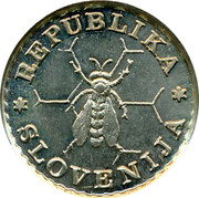 Slovenia 0.10 Lipe 1991 UNC X# Tn7 Standart Coinage REPUBLIKA SLOVENIJA coin obverse