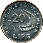 Slovenia 0.20 Lipe 1991 UNC X# Tn8 Standart Coinage REPUBLIKA SLOVENIJA 0,20 LIPE coin obverse