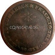 Canada 1/2 Penny Issac Brock 1816  SUCCESS TO COMMERCE & PEACE TO THE WORLD * 1816 * coin reverse