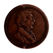 Canada 1/2 Penny Wellington Waterloo Large Bust design 1815   coin obverse