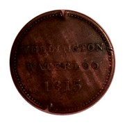 Canada 1/2 Penny Wellington Waterloo Large Bust design 1815  WELLINGTON WATERLOO 1815 coin reverse