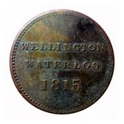 Canada 1/2 Penny Wellington Waterloo - ship design 1815 WELLINGTON WATERLOO 1815 coin reverse