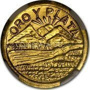 USA 1/4 Dollar (Quarter) Indian Round Montana 1914 ORO Y PLATA coin reverse