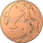 Australia 1 Cent 60th Anniversary of Mr Squiggle and Friends 2019  UNC in Set 1 coin reverse