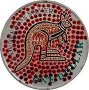 Australia 1 Dollar Aboriginal Kangaroo 2001 KM# 590 1 OUNCE FINE SILVER ONE DOLLAR coin reverse