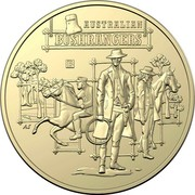 Australia 1 Dollar Australian Bushrangers 2019 B AUSTRALIAN BUSHRANGERS C AS coin reverse