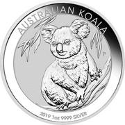Australia 1 Dollar Australian Koala 2019 AUSTRALIAN KOALA 2019 1 OZ 9999 SILVER P IJ coin reverse