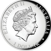 Australia 1 Dollar Australian Kookaburra Full Moon 2018 P High Relief Proof ELIZABETH II AUSTRALIA • 1 DOLLAR • IRB coin obverse