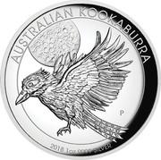 Australia 1 Dollar Australian Kookaburra Full Moon 2018 P High Relief Proof AUSTRALIAN KOOKABURRA 2018 1OZ 9999 SILVER P NM coin reverse