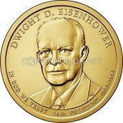 USA 1 Dollar (Dwight D. Eisenhower) KM# 607 UNITED STATES OF AMERICA $1 coin reverse