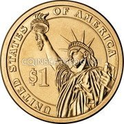 USA 1 Dollar (Harry S. Truman) KM# 606 HARRY S. TRUMAN IN GOD WE TRUST 33rd PRESIDENT 1945-1953 coin obverse