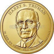 USA 1 Dollar (Harry S. Truman) KM# 606 UNITED STATES OF AMERICA $1 coin reverse