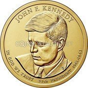 USA 1 Dollar (John F. Kennedy) KM# 608 UNITED STATES OF AMERICA $1 coin reverse
