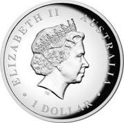 Australia 1 Dollar (Kookaburra) ELIZABETH II AUSTRALIA • 1 DOLLAR • IRB coin obverse