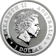 Australia 1 Dollar Kookaburras (In Color) 2013 ELIZABETH II AUSTRALIA 1 DOLLAR IRB coin obverse