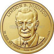 USA 1 Dollar (Lyndon B. Johnson) KM# 609 UNITED STATES OF AMERICA $1 coin reverse