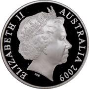 Australia 1 Dollar Year of the Ox (Proof) 2009 ELIZABETH II AUSTRALIA 2009 coin obverse