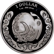 Australia 1 Dollar Year of the Ox (Proof) 2009 1 DOLLAR 1 OZ .999 SILVER coin reverse