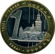 Slovenia 1€ (Trial Probe) X# Pn7 TRIAL PROBE ESSAI 1 coin reverse