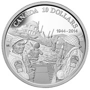 Canada 10 Dollars D Day 2014 Proof CANADA 10 DOLLARS ML 1944-2014 coin reverse