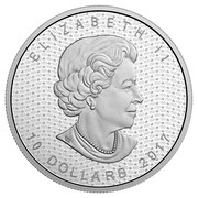 Canada 10 Dollars Iconic Maple Leaf 2017 Matte Proof ELIZABETH II 10 DOLLARS 2017 coin obverse