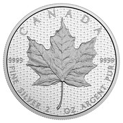 Canada 10 Dollars Iconic Maple Leaf 2017 Matte Proof CANADA 9999 9999 FINE SILVER 2 OZ ARGENT PUR coin reverse