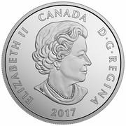 Canada 10 Dollars Montreal Canadiens 2017 Matte Proof ELIZABETH II CANADA D ∙ G ∙ REGINA 2017 coin obverse