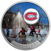 Canada 10 Dollars Montreal Canadiens 2017 Matte Proof 10 DOLLARS coin reverse