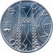 Slovakia 10 Euro 150th Anniversary of the birth of Jozef Murgas 2014 KM# 133 SLOVENSKO 2014 coin reverse