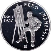 Finland 10 Euro 150th Birth Anniversary Eero Jarnefelt 2013 Proof KM# 214 SUOMI FINLAND 10 EURO 2013 N coin obverse