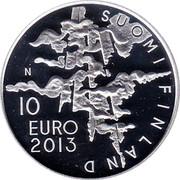 Finland 10 Euro 150th Birth Anniversary Eero Jarnefelt 2013 Proof KM# 214 EERO JÄRNEFELT 1863 1937 coin reverse