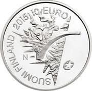 Finland 10 Euro 2015 Proof KM# 226 Euro Coinage SUOMI FINLAND 2015 10 EURO N coin obverse