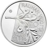 Finland 10 Euro 2015 Proof KM# 226 Euro Coinage RAUHAN VUOTTA ÅR AV FRED coin reverse