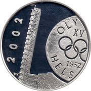 Finland 10 Euro Anniversary of Helsinki Olympic Games 2002 M VV-M KM# 107 2002 M OLY XV 1952 HELS coin obverse