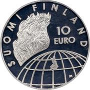 Finland 10 Euro Anniversary of Helsinki Olympic Games 2002 M VV-M KM# 107 SUOMI FINLAND 10 EURO M coin reverse