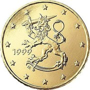Finland 10 Euro Cent 1st map 1999 M Proof KM# 101 coin obverse