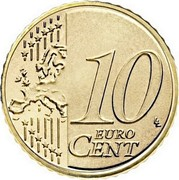 Finland 10 Euro Cent 2nd map 2007 FI Proof KM# 126 10 EURO CENT LL coin reverse