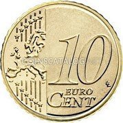 Slovenia 10 Euro Cent Cathedral of Freedom 2007 KM# 71 10 EURO CENT LL coin reverse